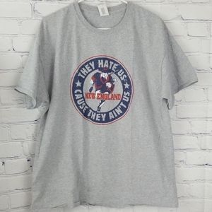 New England Patriots gray short sleeve tshirt